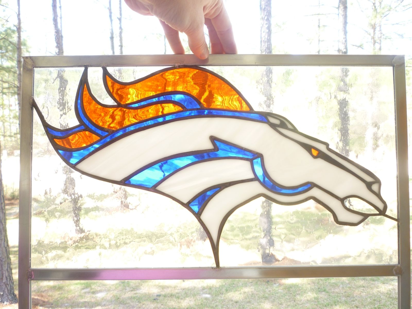 Custom Broncos Sports Stained Glass by The Last Unicorn Stained ...