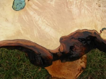 Custom Made Burl Maple End Table