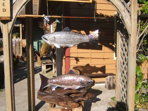 "Custom Made Steelhead Trout, Approximately Twenty Pounder, 35"" Long"