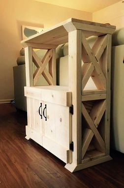 Custom Made X Braced Entryway Tables