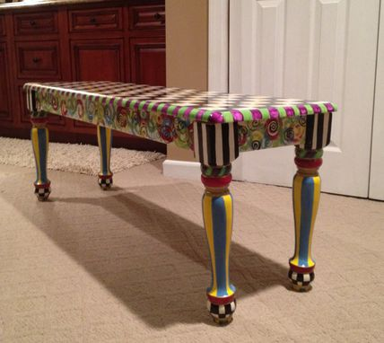 Custom Made Whimsical Painted Bench // Whimsical Furniture // Custom Bench // Custom Painted Chair