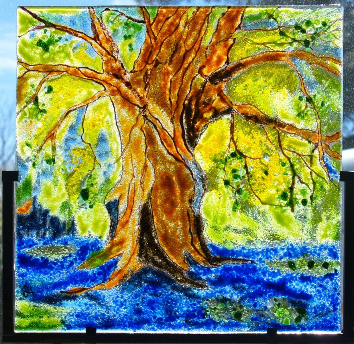 Handmade Quot Bluebonnets Under The Old Oak Tree Quot By Hartman
