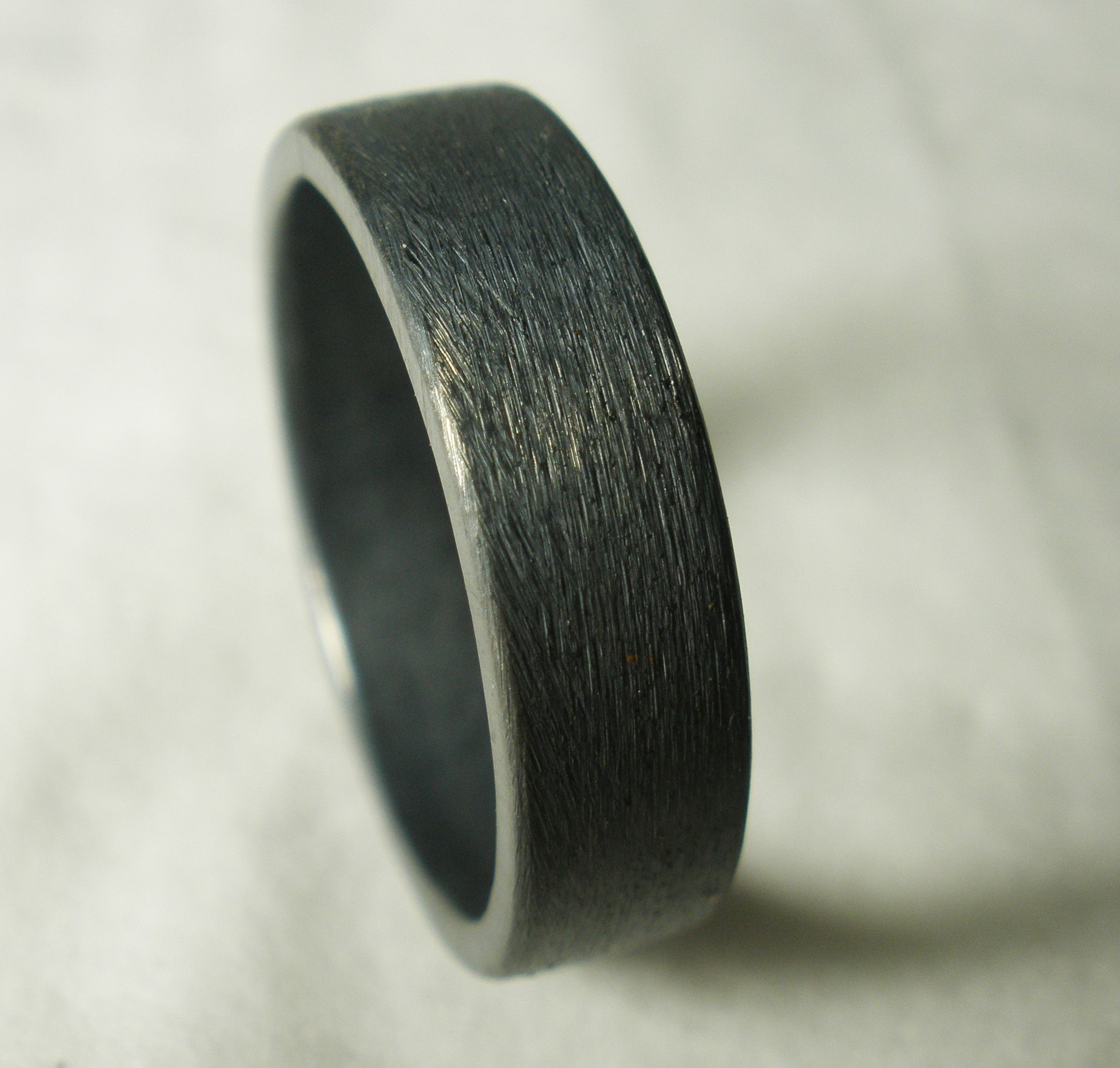 Custom Made Mens Wedding Ring Rustic Unique Simple Engagement Recycled Sterling Silver Oxidized
