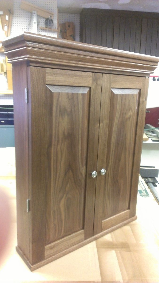 Custom made walnut dart board cabinet by bbg woodworks - Custom made cabinet ...