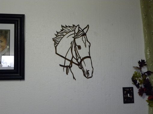 Hand Crafted Horse Head Metal Wall Art Country Rustic Home Decor By Say It All On The Wall