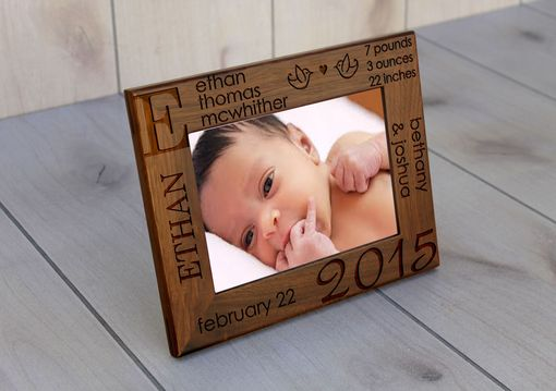 Custom Made Custom Engraved Picture Frames -- Pf-Wal-Ethan