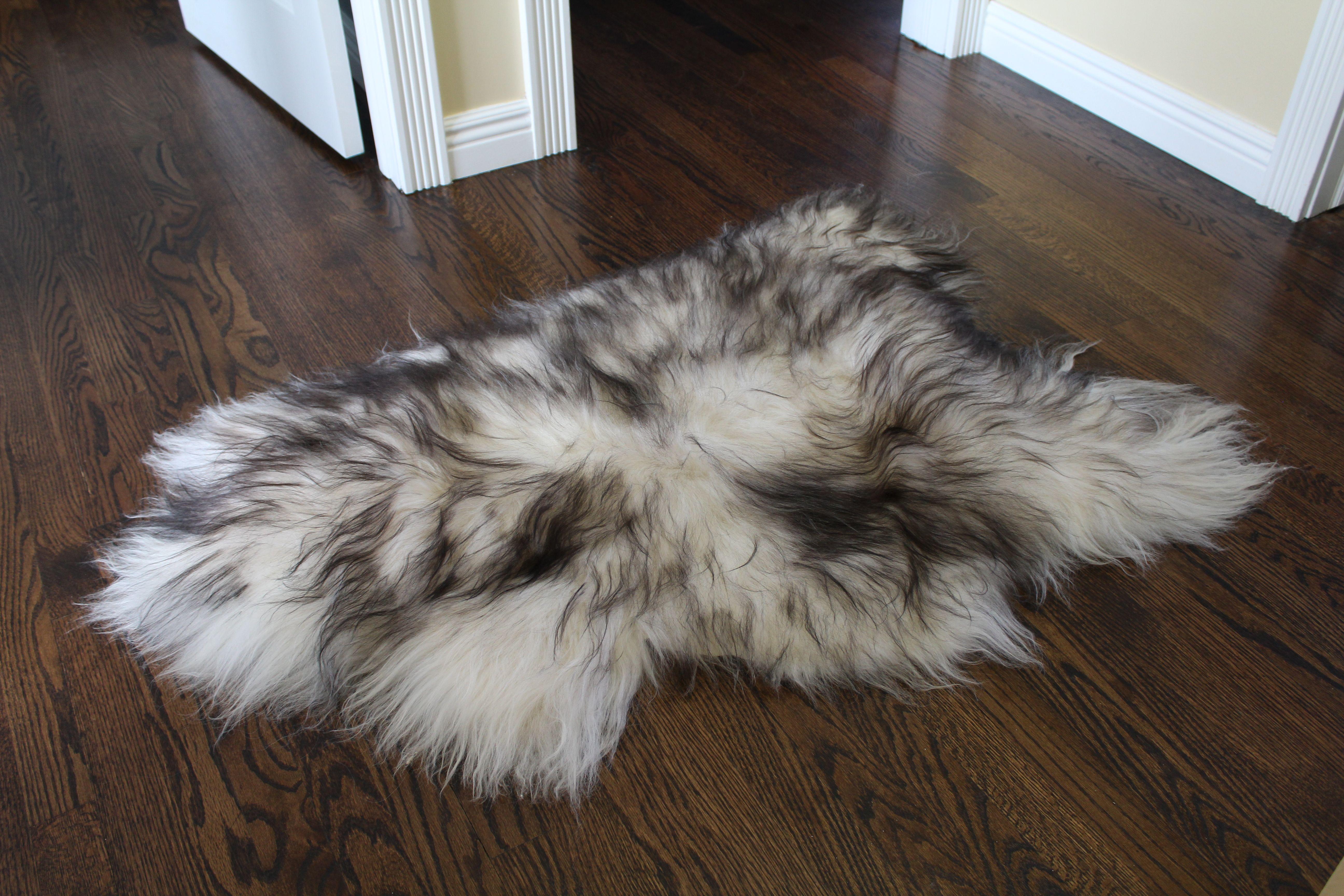 Icelandic Sheepskin Rug Throw – Shade
