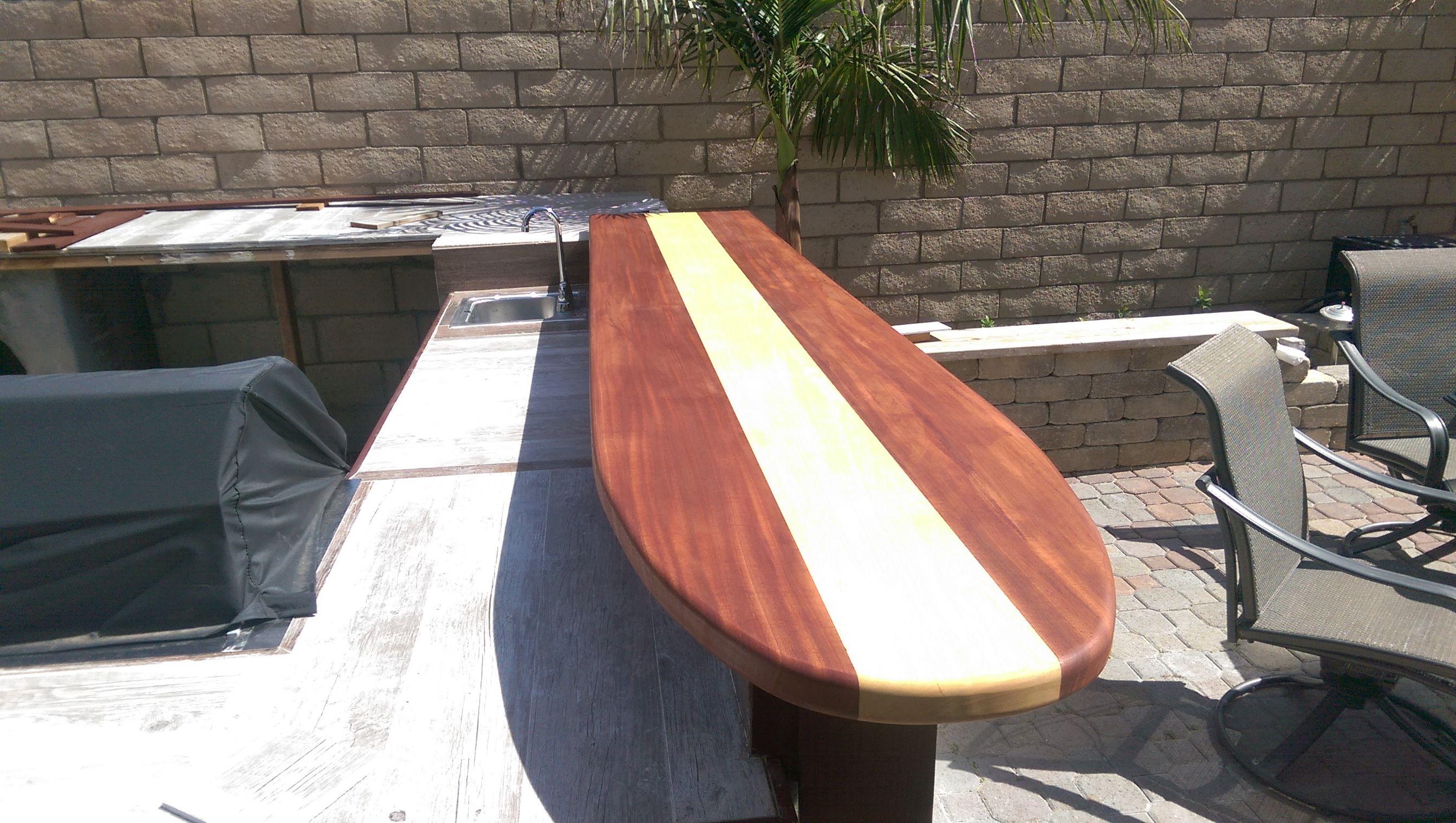 Custom made classic surfboard bar top by harbour millwork custom made classic surfboard bar top by harbour millwork custommade watchthetrailerfo