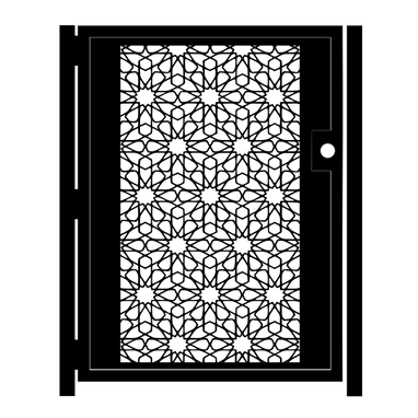 Custom Made Decorative Mosaic Steel Gate - Agra Design - Geometric Metal Art - Room Divider  - Custom Gate