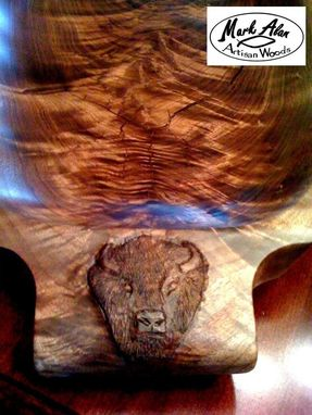 "Custom Made Black Walnut Platter ""Tatanka"" A Tribute To The Lakota."