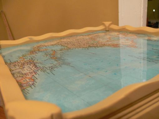 Custom Made Side Tables With Maps And Parks Super Glaze