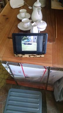Custom Made Ipad Cell Phone Menu Holder Dock Made To Order Electric Art