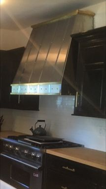 Custom Made Custom Stainless And Brass Range Hood