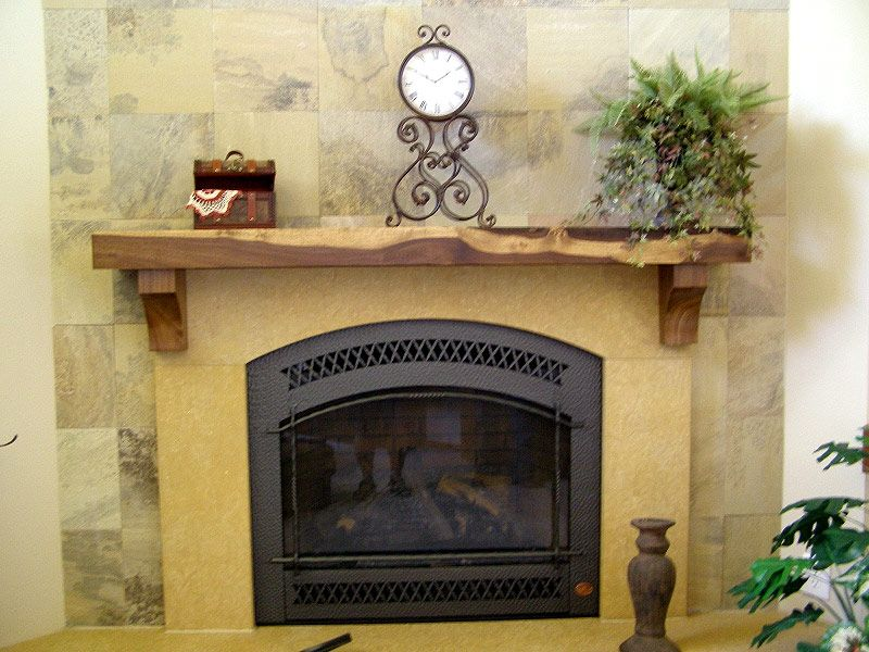 Custom Made Custom Rustic Fireplace Mantel - Hand Crafted Custom Rustic Fireplace Mantel By Fbt Sawmill