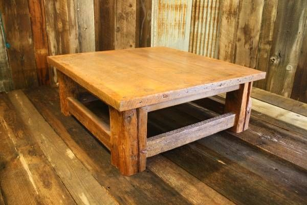 Custom Made Rustic Reclaimed Barnwood Coffee Table - Custom Made Rustic Reclaimed Barnwood Coffee Table By American