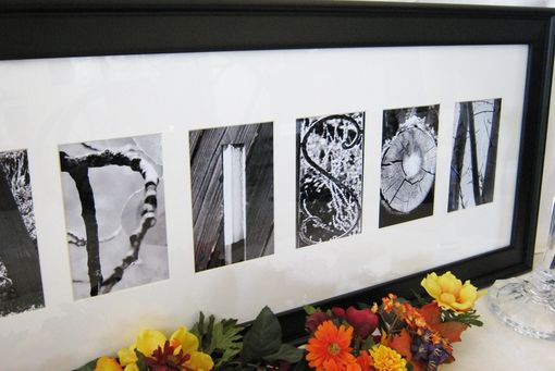 Custom Made Custom Black Wood Frame For Alphabet Photographs