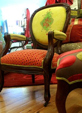 Custom Made Upholstered Chair Vintage Victorian Chair And Settee