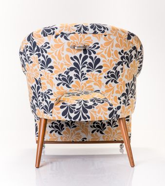 Custom Made Cleo Chair In Acanthus Night Sky
