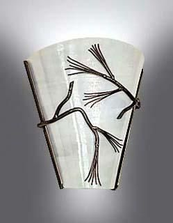 Custom Made Pine Branch Metal Wall Sconce