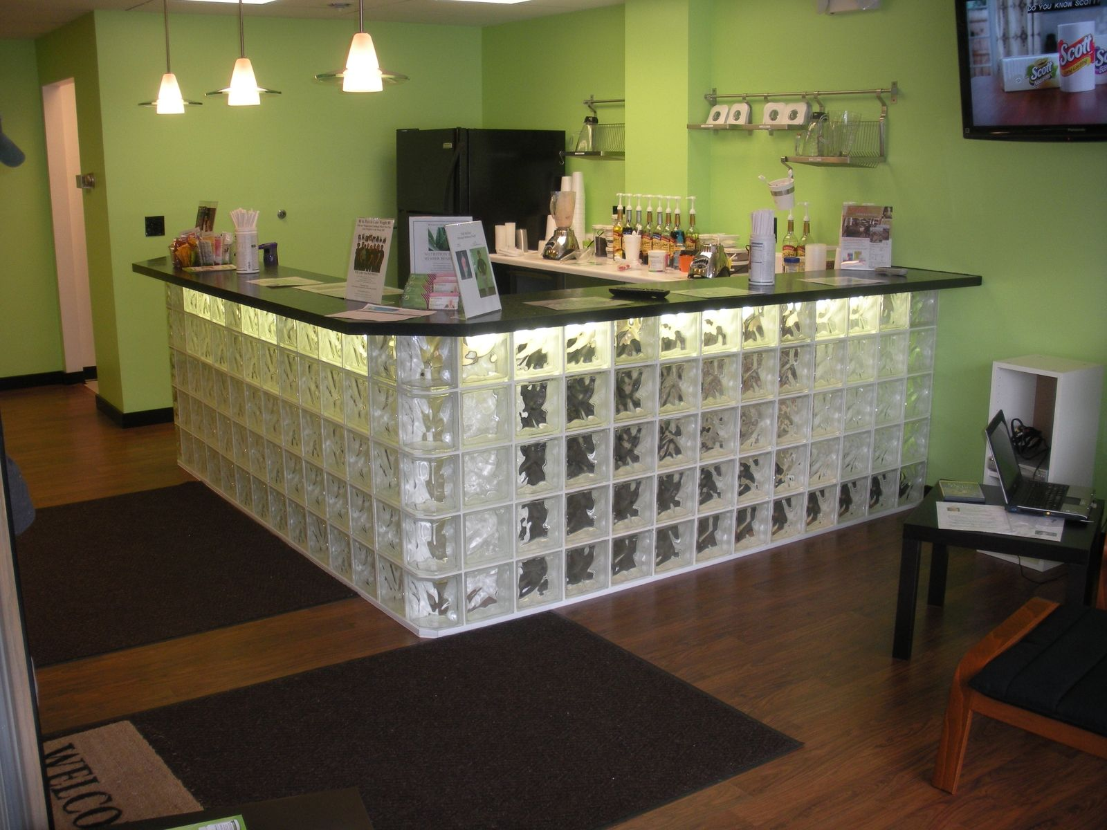 Hand Made Glass Block Bar By Columbus Glass Block