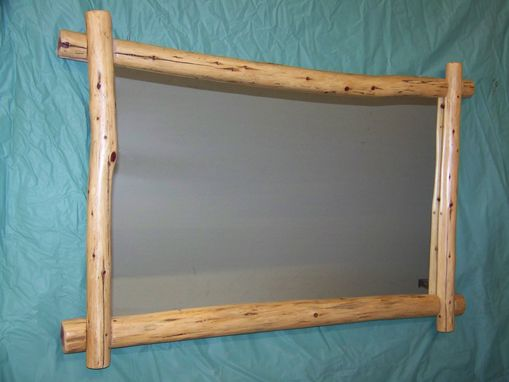 Custom Made Log Frame Mirror