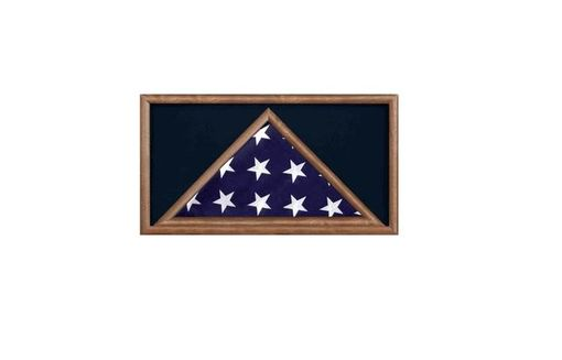 Custom Made Military Flag And Award Medal Display Case -Shadow Box