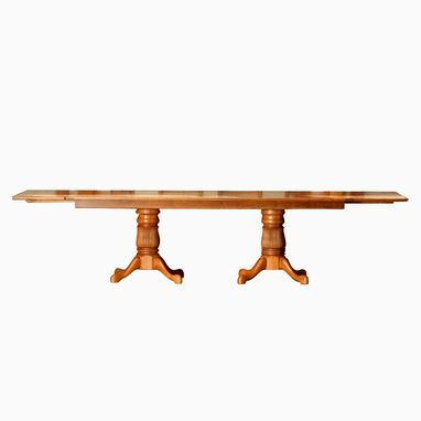 Custom Made Double Pedestal Harvest Table