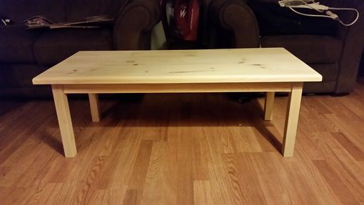 Custom Made Unfinished Pine Coffee Table