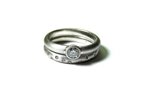 Custom Made Platinum Wedding Set