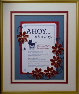 Custom Made Birth Announcement Quilled Keepsake Custom Framed For The Parents