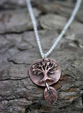 Custom Made Copper Tree With Dancing Leaf Necklace - $58