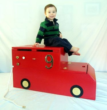 Custom Made Firetruck Toy Box