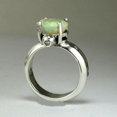 Custom Made Ethiopian Opal Engagement Ring