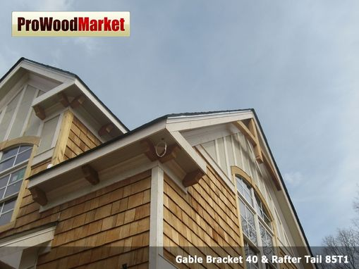 Custom Made Wooden Bracket 10t9, Gable Bracket 40 And Rafter Tail 85t1