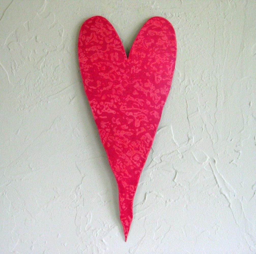 Custom Handmade Upcycled Metal Valentine\'s Heart Wall Decor In ...