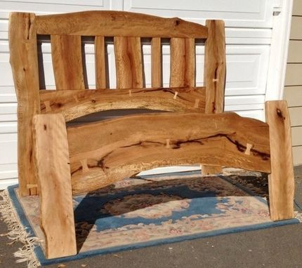 Custom Made Queen Size Live Edge Oak Bed