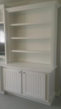 Custom Made Large White Entertainment Center