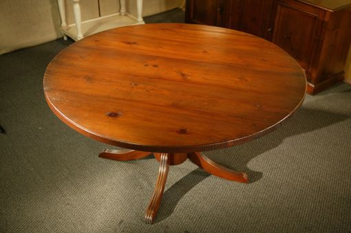 Hand Made Round Barnwood Dining Table by ECustomFinishes ...
