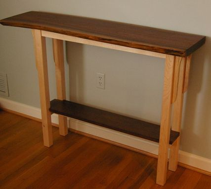 Custom Made Live Edge Walnut Console Table By Puffball