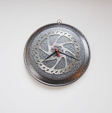 Custom Made 'Spin Your Wheels' Recycled Motorcycle Clock