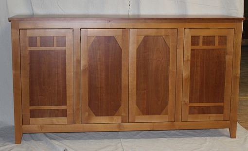 Custom Made Cherry And Alder Arts And Crafts Style Cabinet
