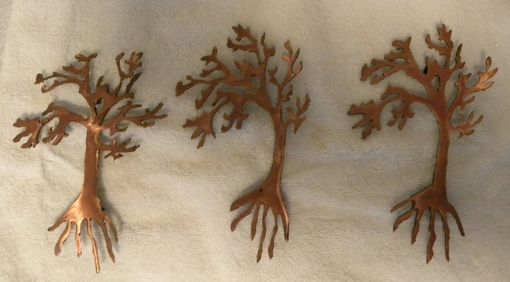 Custom Made Small Trees In The Wind - Set Of 3