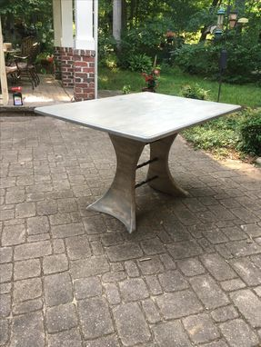 Custom Made Split Pedestal Small Dining Table