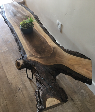 Custom Made Black Walnut Live Edge Coffee Table