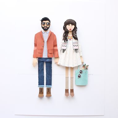 Custom Made Custom Couple Paper Portrait