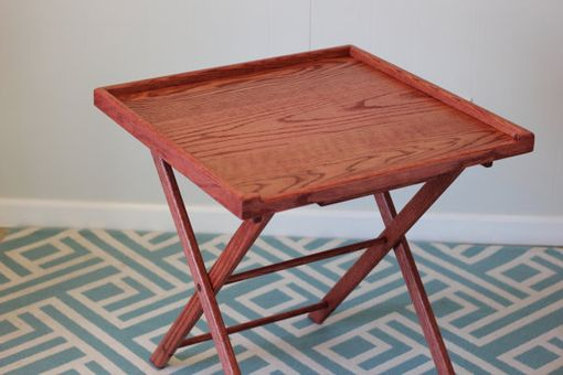 Custom Made Tv Trays- Solid Red Oak