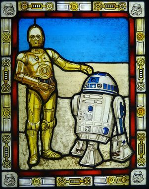 Custom Made Star Wars Stained Glass