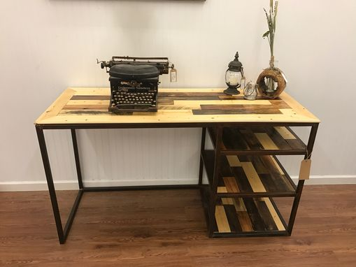 Custom Made Industrial Barn Wood Desk