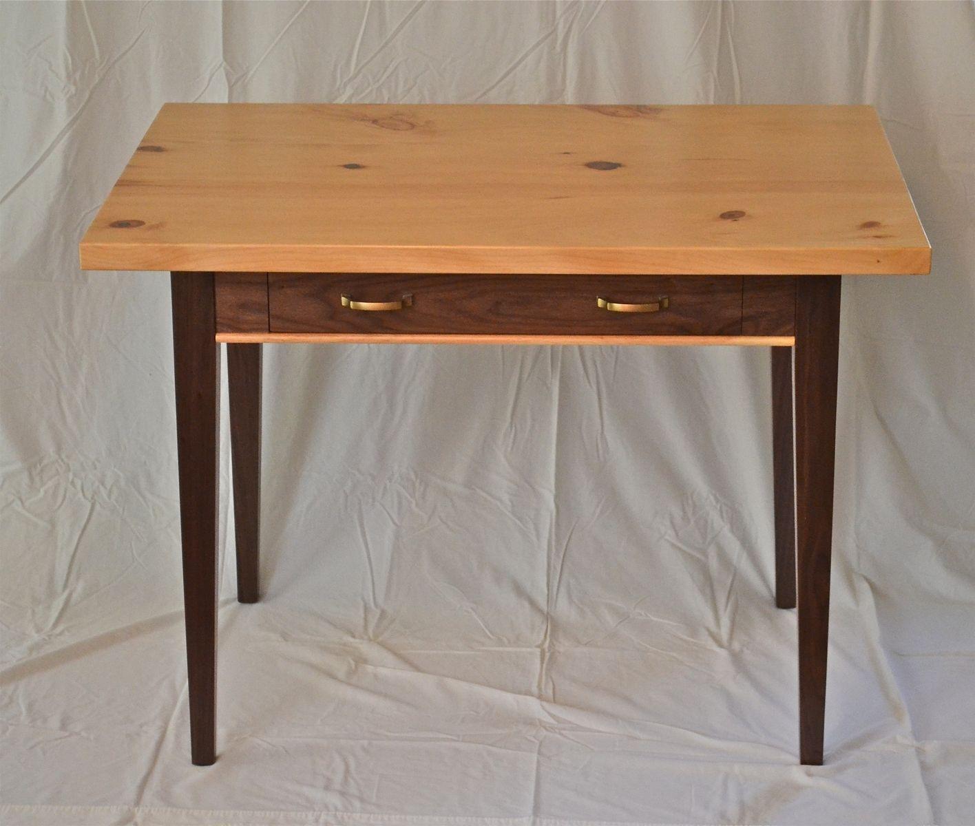 Custom Made Writing Desk Of Black Walnut And Knotty Pine