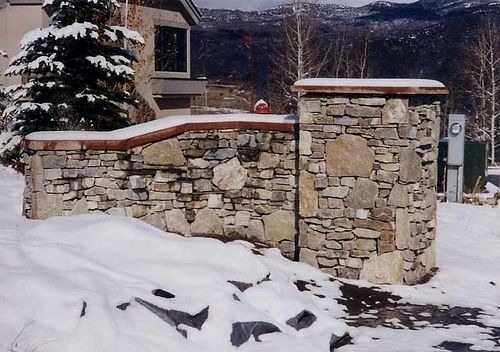 Custom Made Entrance Monument For Snowmass, Co Subdivision